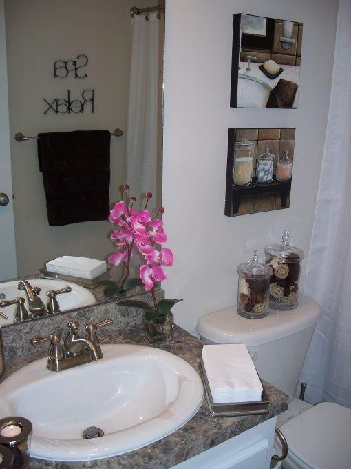 Spa themed bathroom? New bathroom for me! Bathroom, Half bath