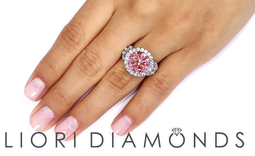 7.03 CTW GIA Certified Pink Diamond Engagement Ring Platinum ~ Watch LIVE Video #LioriDiamonds #DiamondEngagementRing