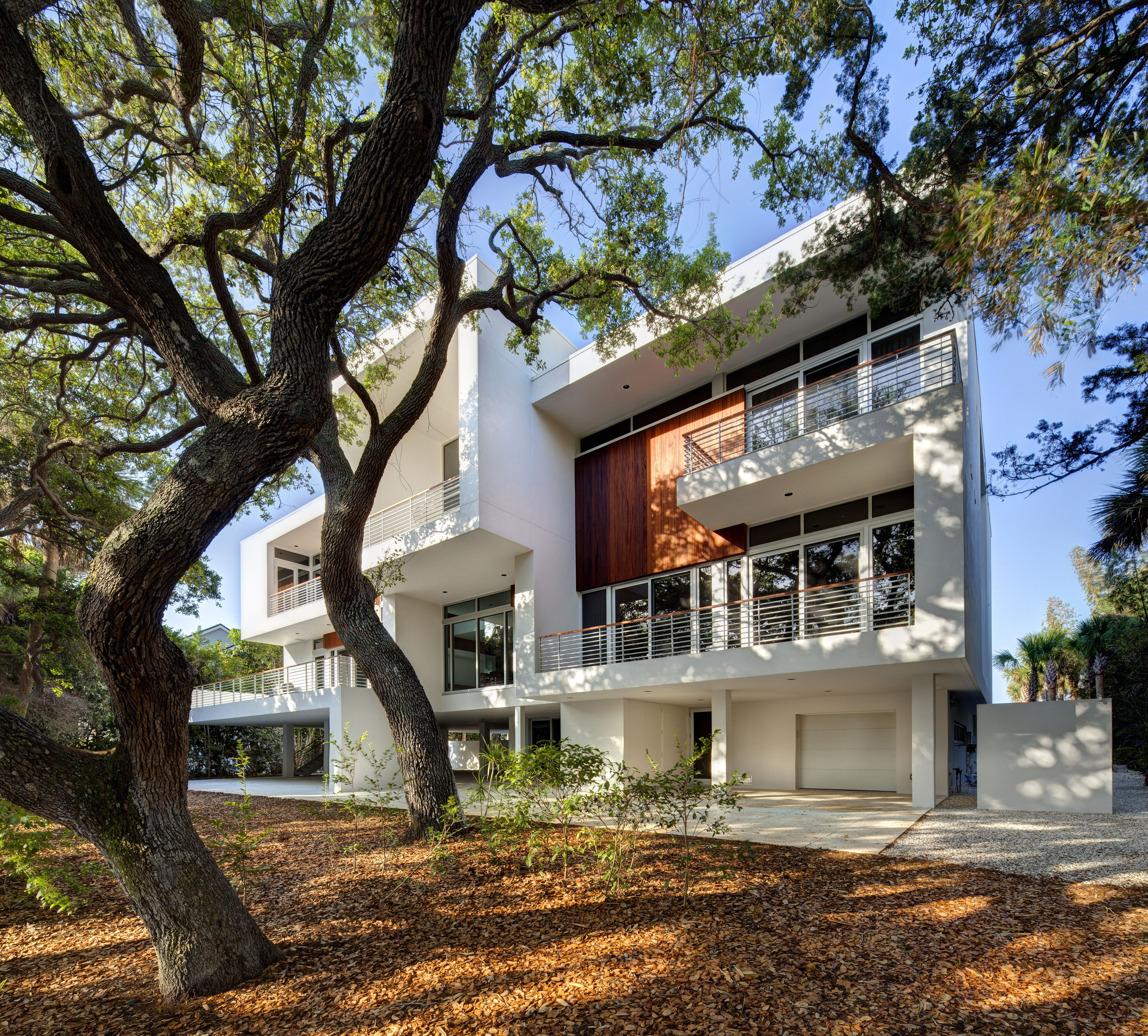 Rear Elevation From A Private Residence In Osprey FL Architect