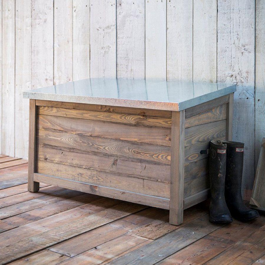 Large Rustic Aldsworth Outdoor Storage box with Zinc Top