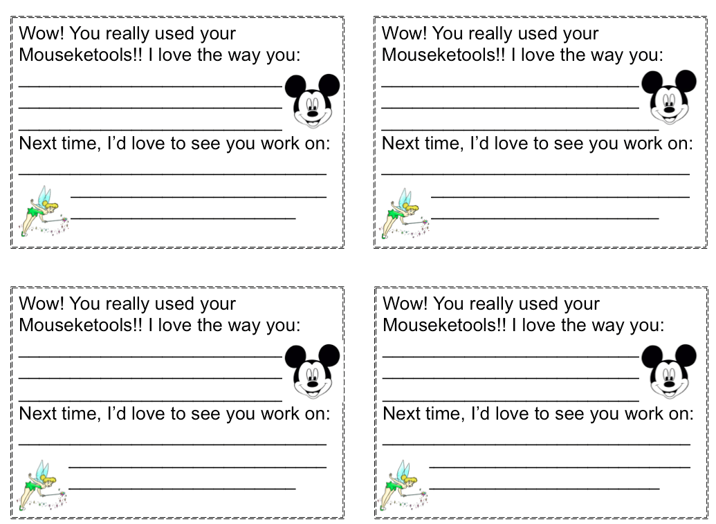 Disney Feedback Forms For Student WorkTo View This Product And