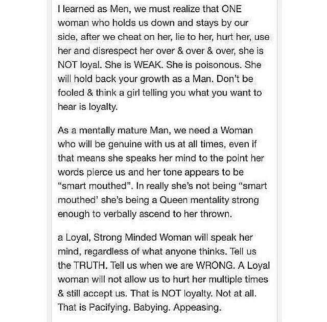 Why All Men Cheat On Loyal Women