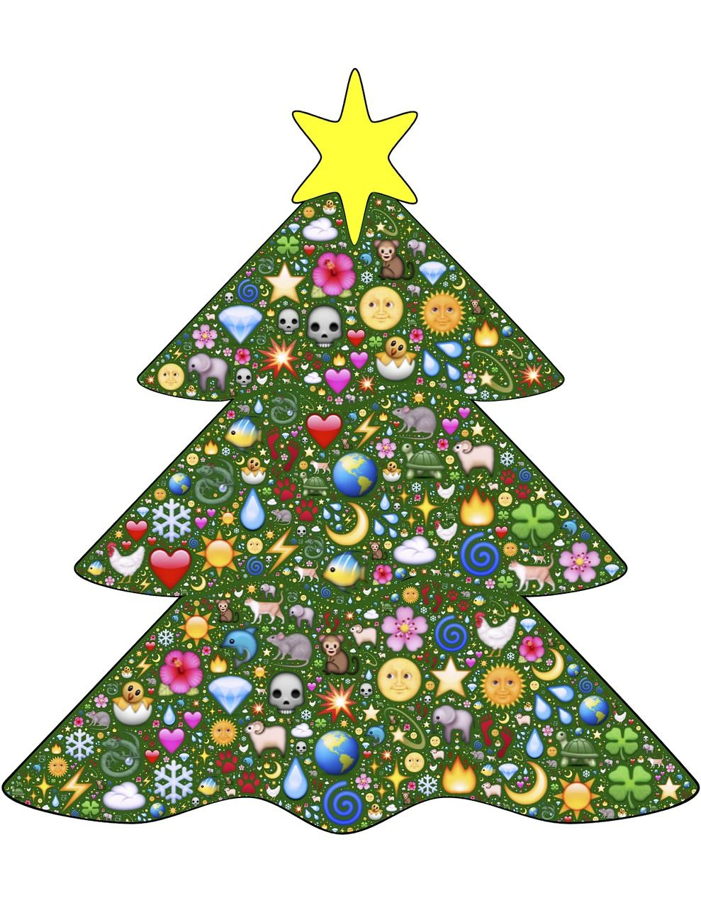 Vacation Christmas Tree Green Emoji Decoration Vacation Christmastree Green Emoji Decoration Unusual Christmas Trees Christmas Tree Christmas