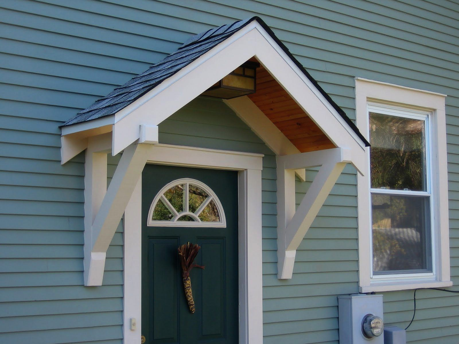 How To Build A Small Portico Above A ...   Porch awning ...