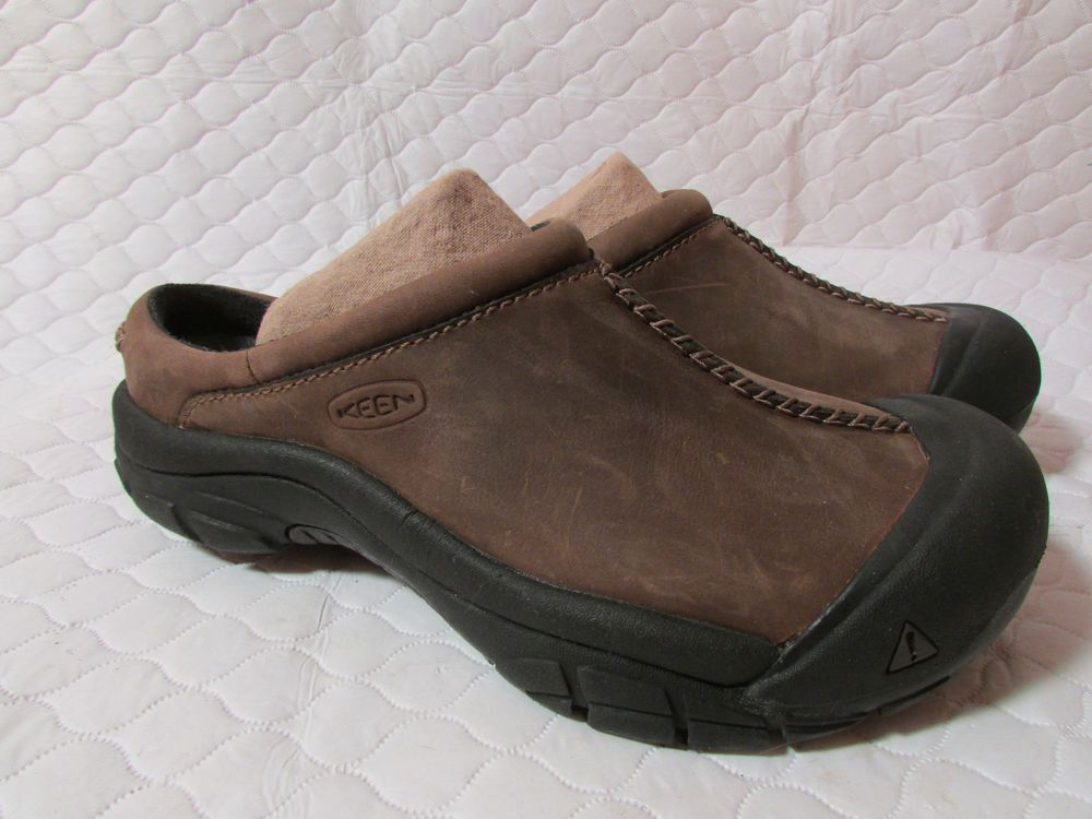 Keen Women S Brown Nubuck Leather Slip On Slides Clogs Mules Shoes Size 8 5 Fashion Clothing Shoes Accessorie Mules Shoes Nubuck Leather Leather Slip Ons