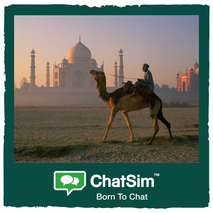 James I. from India: travel to meet other cultures. Shared with #ChatSim  App used: Hike - Credit used: 15 (photo size 150 KB) www.chatsim.com