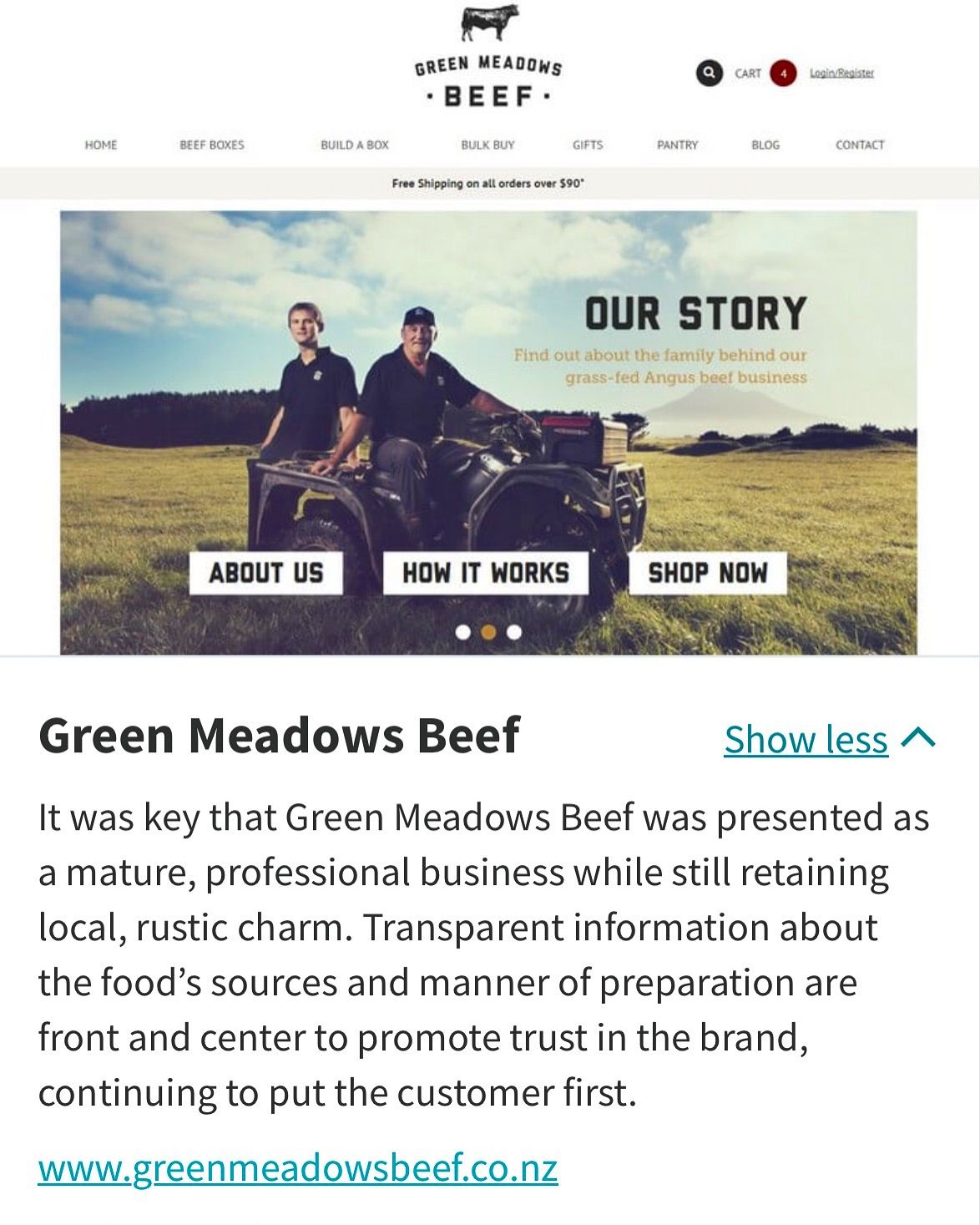 My company, Efinity, Green Meadows Beef website has made it to the Kentico global top three for 2016 in the best E-Commerce category. Rubbing shoulders with giants like Microsoft and DHL💪🏽 Take a peek! http://www.kentico.com/customers/site-of-the-year/site-of-the-year-2016/vote-for-the-winners