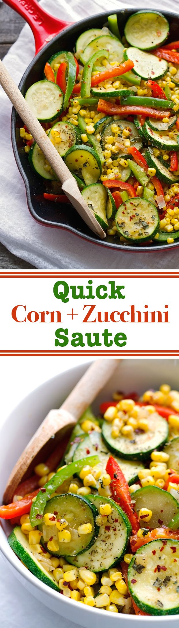 Quick Corn and Zucchini Saute thats ready in 10 minutes are is the perfect side dish for any meal