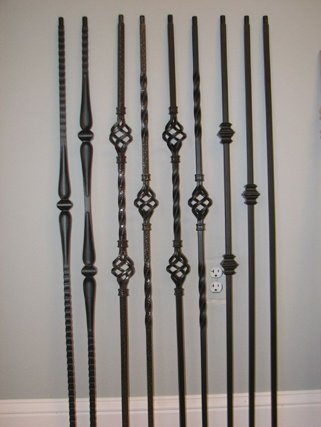 Iron Banister With Dark Hardwood | ... Balusters Photo Gallery H Showroom  Pictures Stair