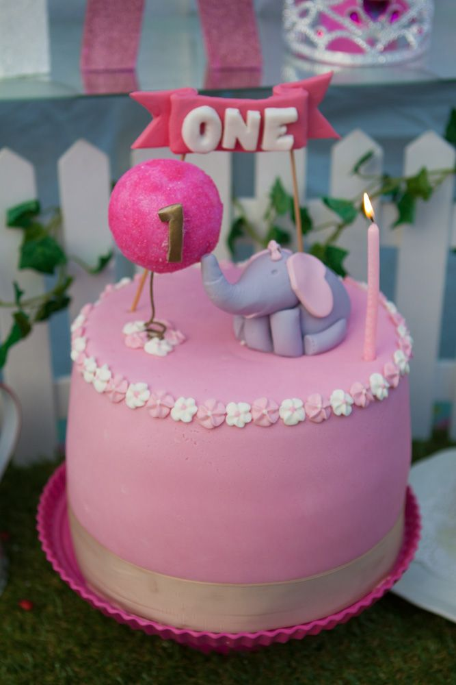 elephant with balloon first birthday cake - Garden party table setting (cake table/dessert & elephant with balloon first birthday cake - Garden party table ...