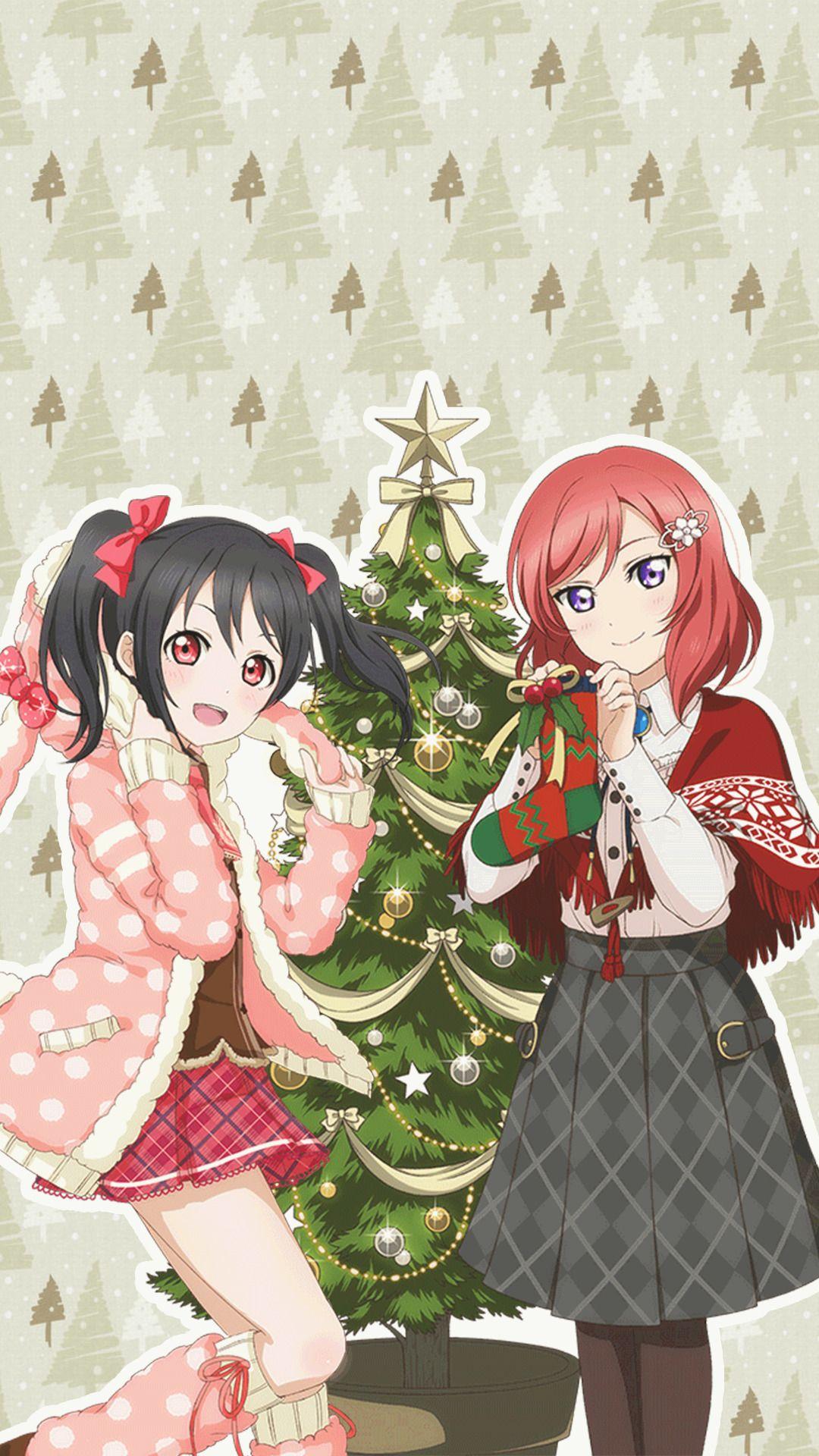 Love live school idol project nico and maki xmas phone - Love live wallpaper 540x960 ...