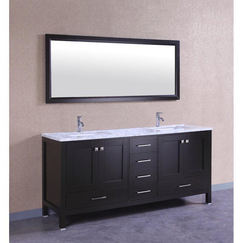 Pichardo 78 Transitional Double Bathroom Vanity Set Bathroom