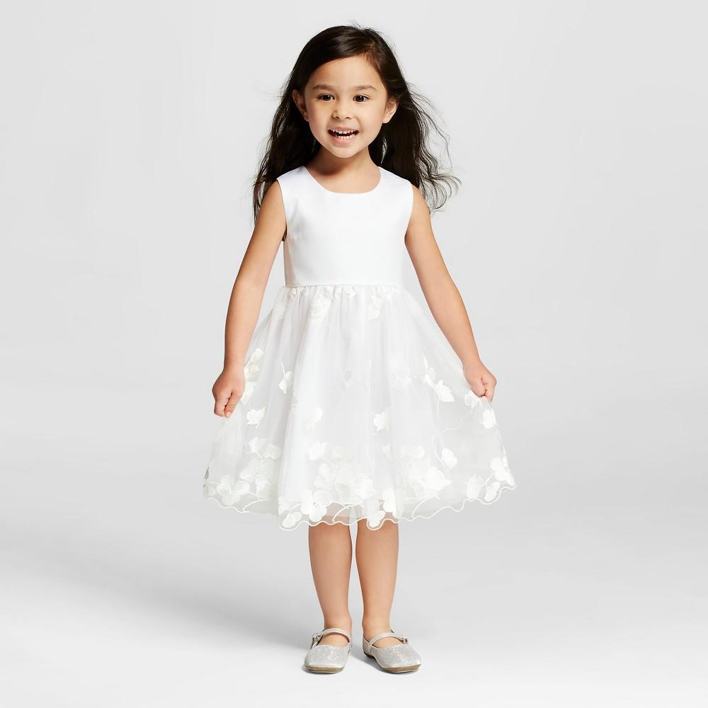 Miss Treasures Toddler Girls Lace Flower Girl Dress White 4t