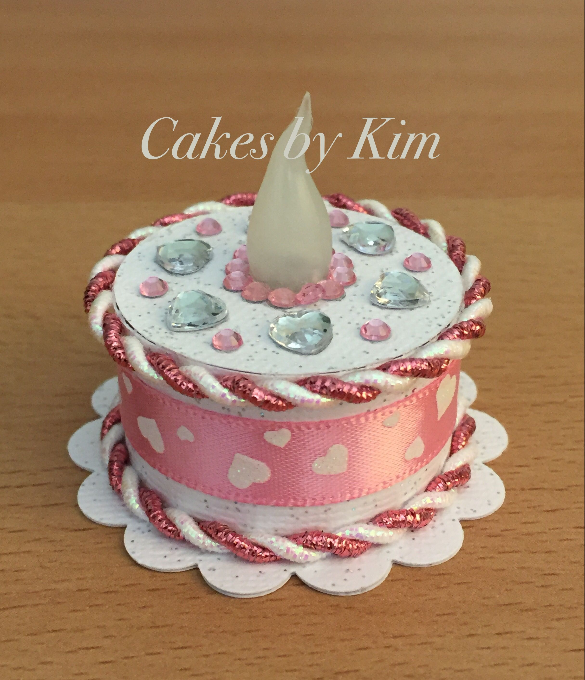 Valentines Tea Light Cake Made By Kim Led Lights Candles