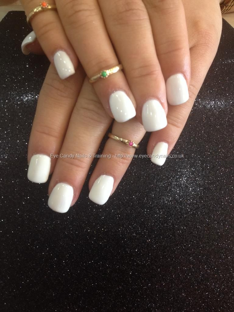 Full Set Acrylic With White Gel Polish Full Set Acrylic Hair And Nails Nails