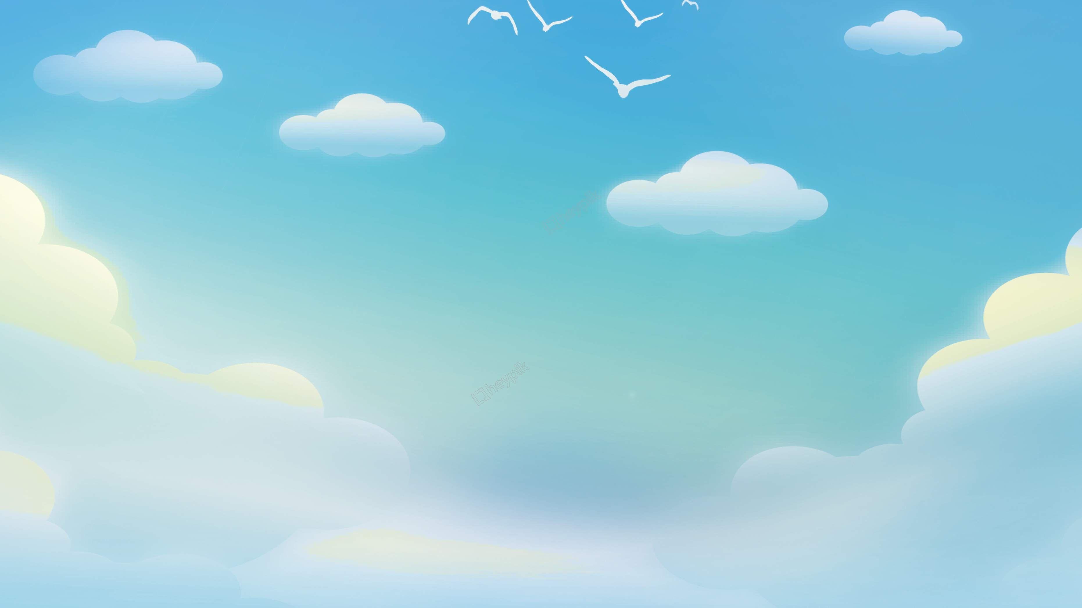 السماء لون السحب قزح السماء الزرقاء الخلفية الملصق Psd الألواح الخلفية إع ن تصوير صمم ال Background Design Creative Background Blue Sky Background