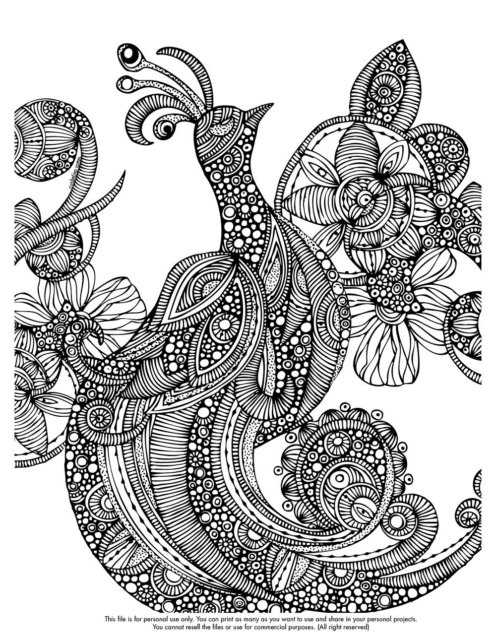 Happy Coloring Monday Here You Free Coloring Page Http Valentinadesign Com Images Printables Parad Coloring Pages Bird Coloring Pages Animal Coloring Pages