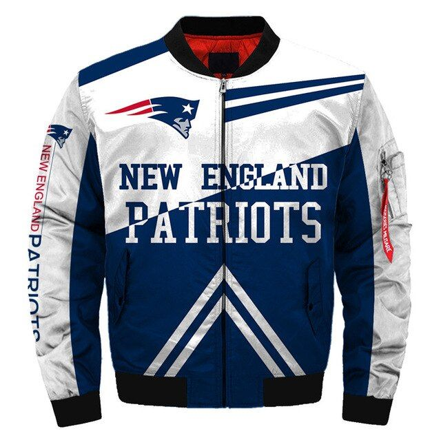 New England Patriots Bomber Jacket Winter Coat Gift For Men Bomber Jacket Winter New England Patriots Merchandise New England Patriots