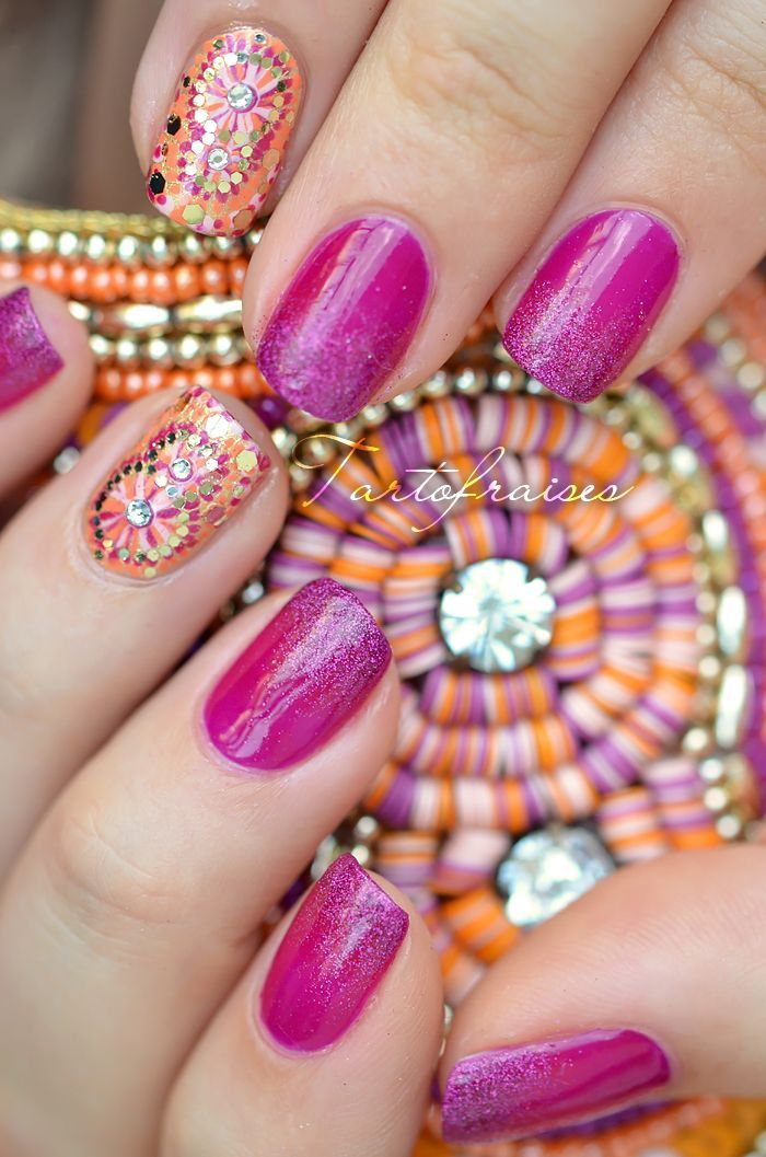 100 Beautiful and Unique Trendy Nail Art Designs   Trendy nail art ...