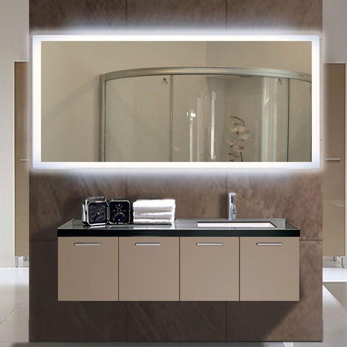 Led Illuminated Bathroom Mirror Rectangle Backlight Wall Paris With Lights 72 36 60 X 30 27 4 Sided Le Modern Bathroom Mirrors Rectangle Mirror Bathroom Mirror