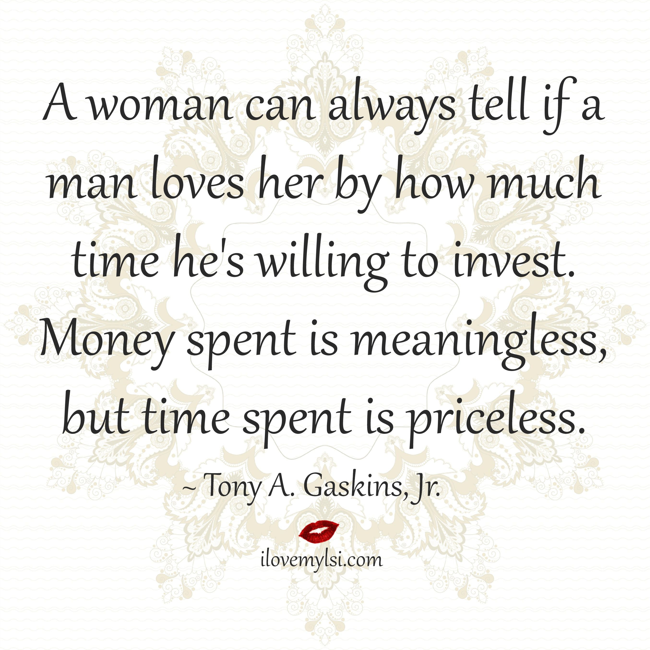 A woman can always tell if a man loves her Small ThingsLovely ThingsInspirational QuotesLove QuotesRomantic QuotesMy