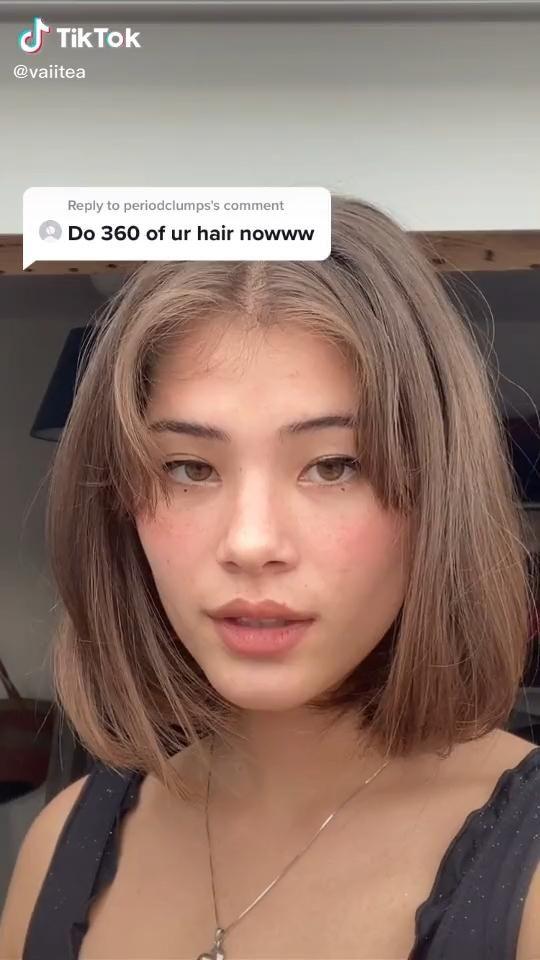 Curtain Bangs With Short Hair Video In 2021 Hair Styles Light Brown Hair Short Light Brown Hair