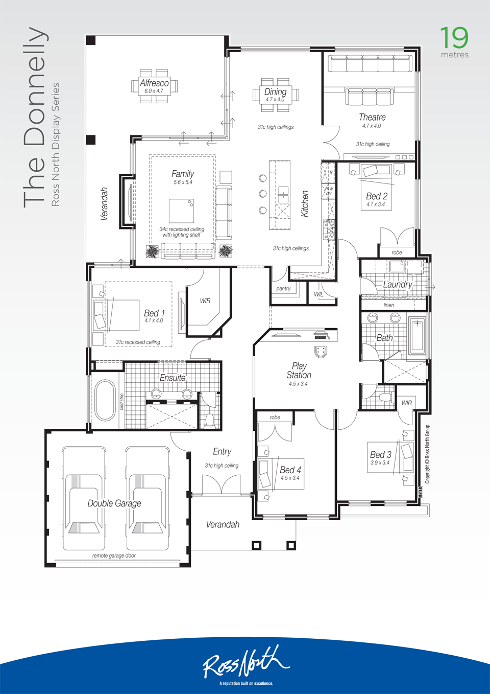 The Donnelly Ross North Homes New House Plans Architectural Floor Plans Dream House Plans