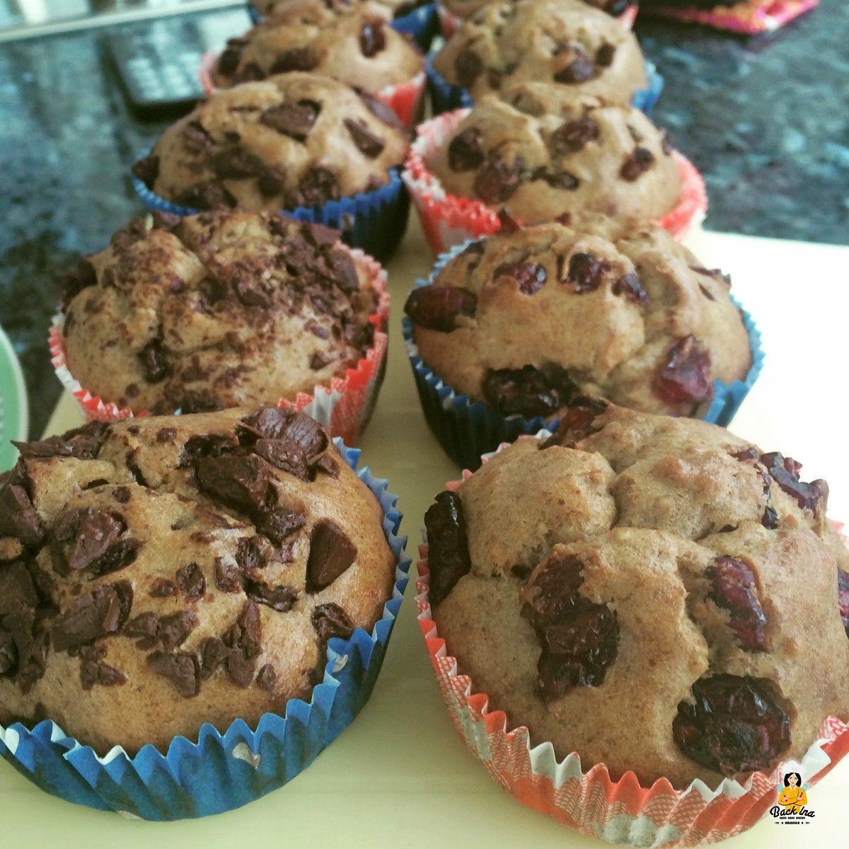 Zuckerfreie Muffins mit Banane und Erdnussbutter