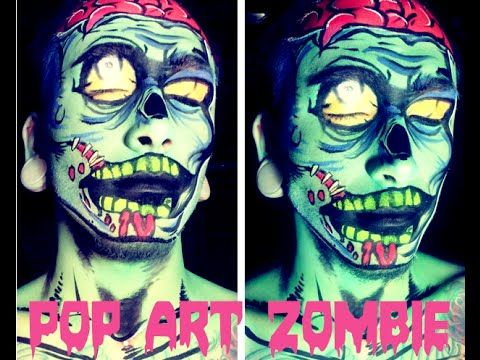 pop art zombie makeup bodypaint tutorial character. Black Bedroom Furniture Sets. Home Design Ideas