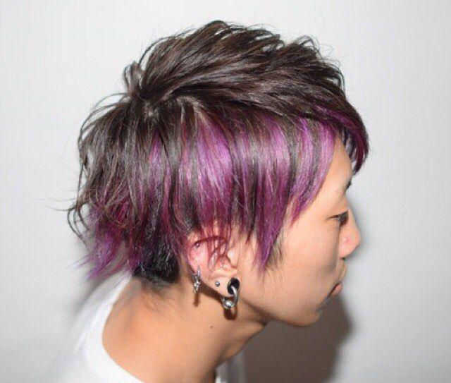Websta Gisele Sendai 紫インナーカラー メンズのインナーカラーもめちゃめちゃかっこいいです マニパニインナーカラー 9000 4500 メンズも大歓迎 男女関わらずお待ちしております 平日17時以降 浅野指名 紫 インナー ヘアカラー パープル