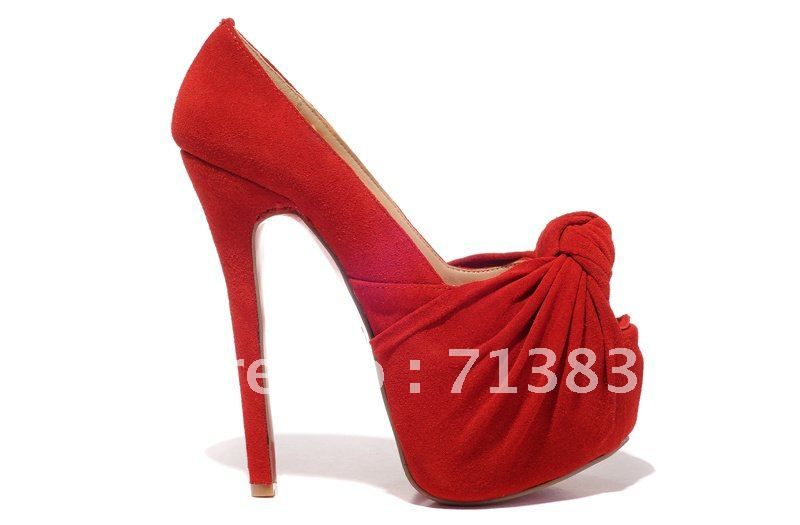 Buy Red sexy High heels shoe quality fur 16cm high heel with bow in front, hot read  bottom Elite for fashion & eligante ladies on Aliexpress.com