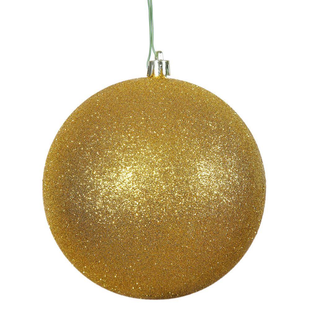 Ball Balls Decorations Vickerman Antique 12Inch Glitter Ball Ornament  Products