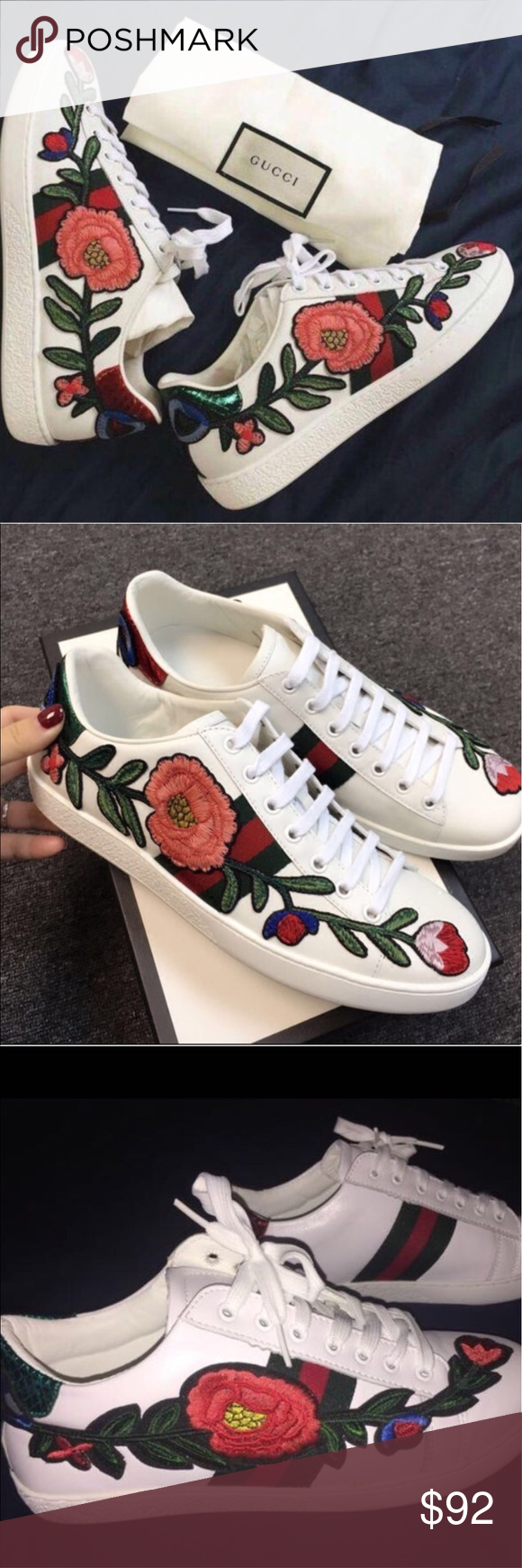 UA Gucci Ace Embroidered 🌹🌹low top
