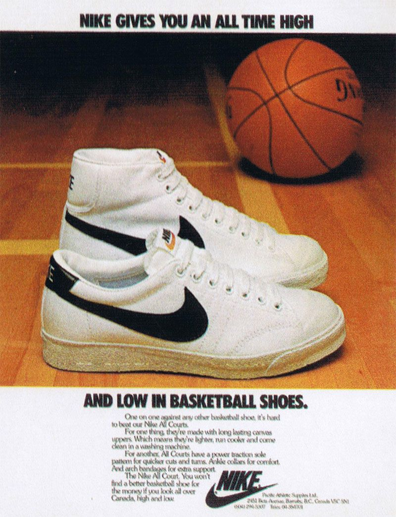 The Nike Blazer...Nike's first ever Basketball Shoe circa 1972