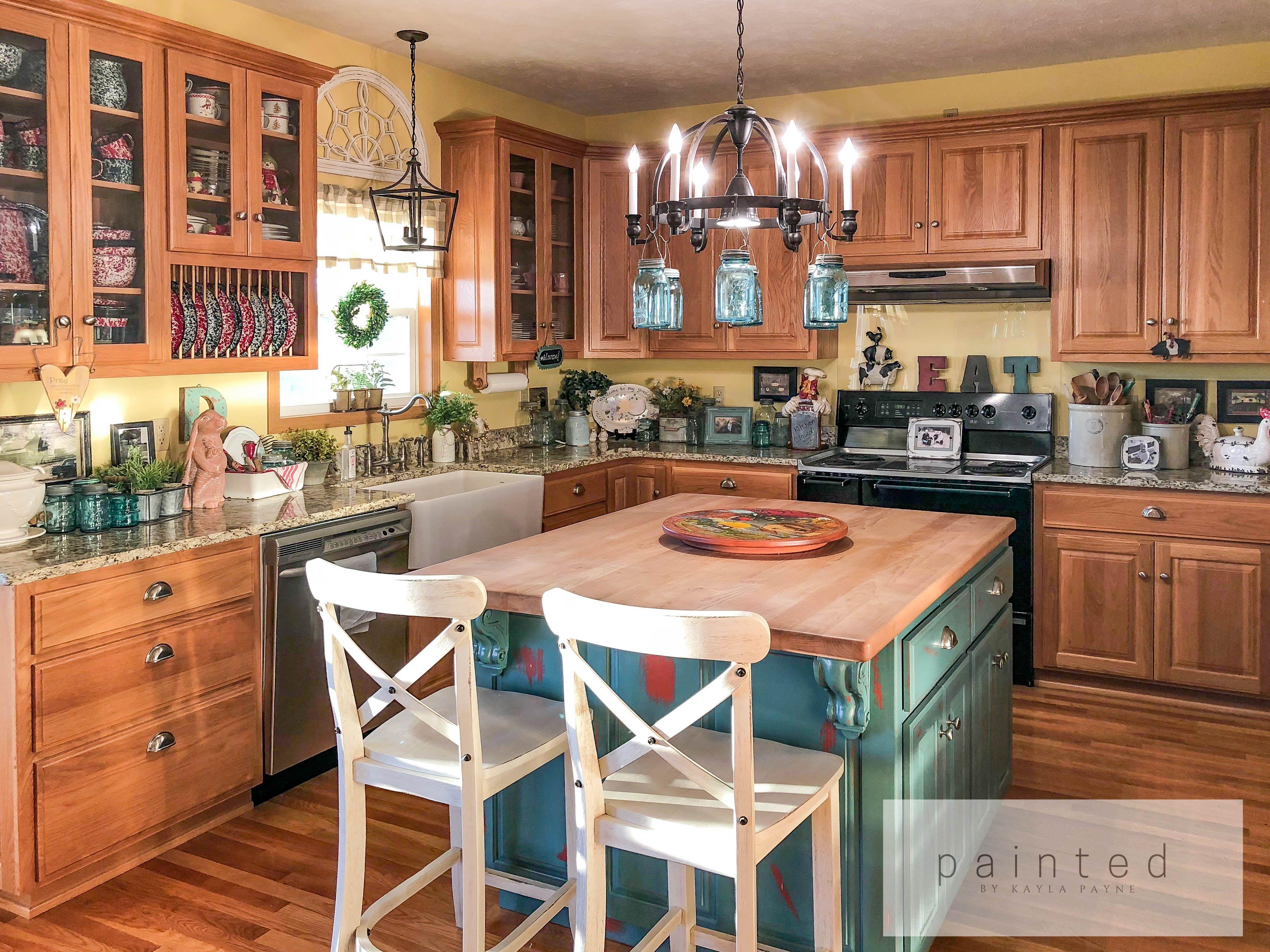 From Oak To Alabaster - Kitchen Cabinet Facelift ...