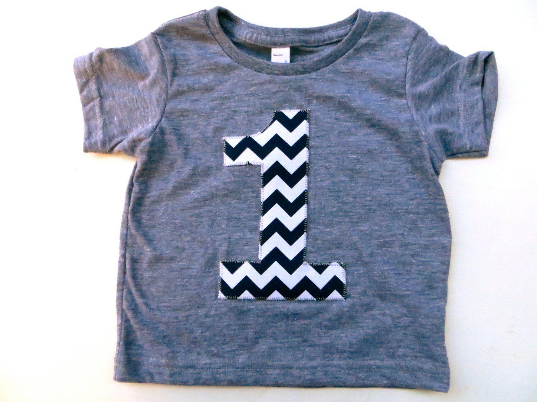 Number 1 Birthday Shirt Boys 1st Triblend Grey TShirt