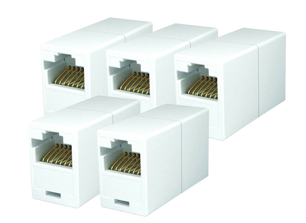 rj45 inline coupler wiring diagram coupler pack of 5 cat5e ethernet cable extender female to fem  coupler pack of 5 cat5e ethernet cable