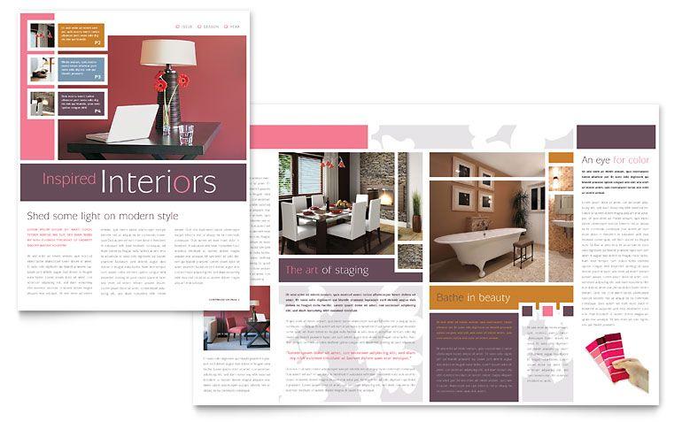 Interior Designer Newsletter Template Design Interior Design
