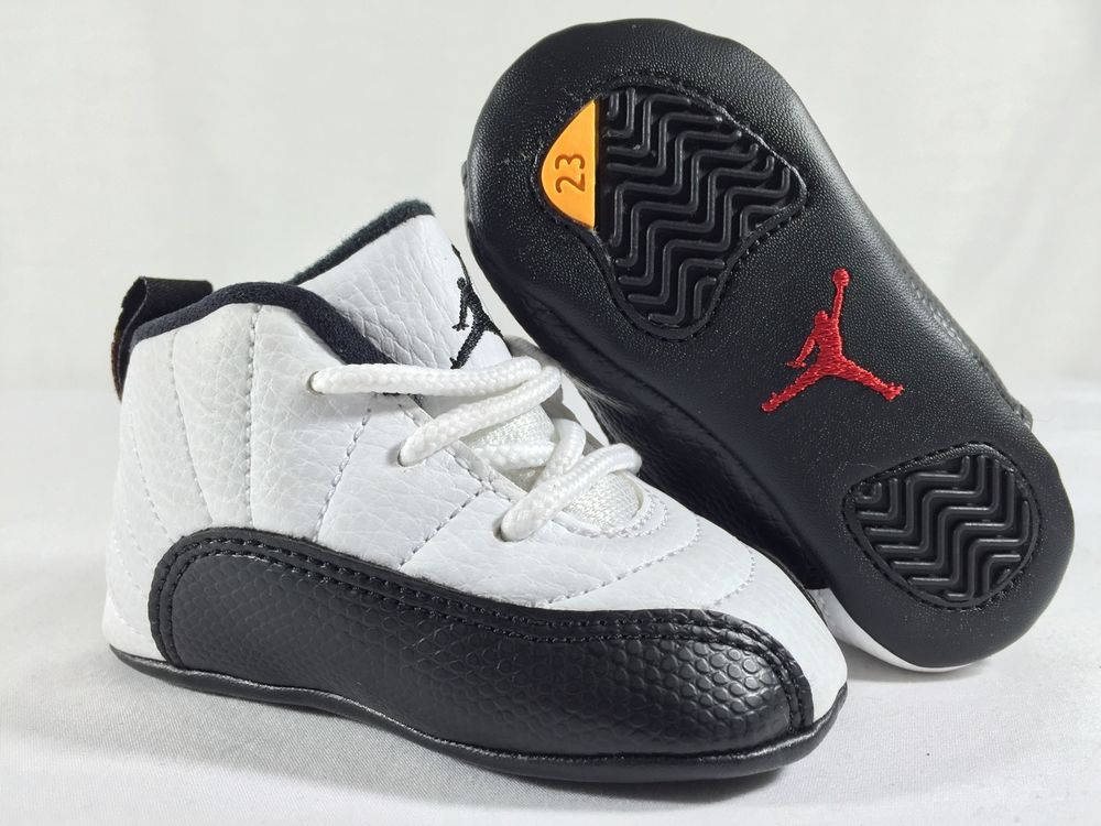 #nike retro air jordan xii 12 taxi #baby infant #shoes crib sz 1c