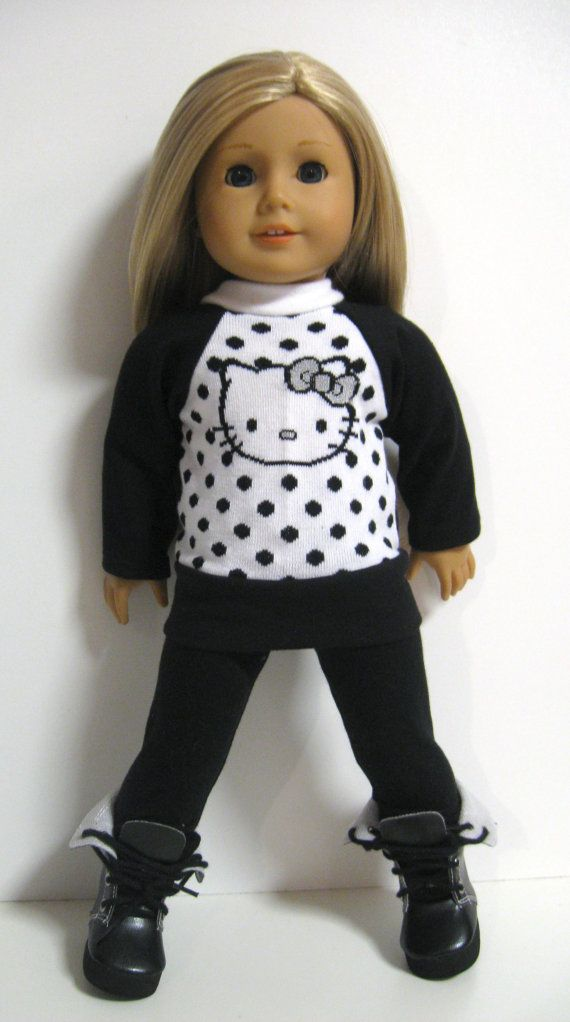 American girl doll clothes - Hello Kitty- Kitty Face Dots ...