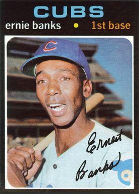 1971 Topps Ernie Banks Baseball Cards Baseball Cards