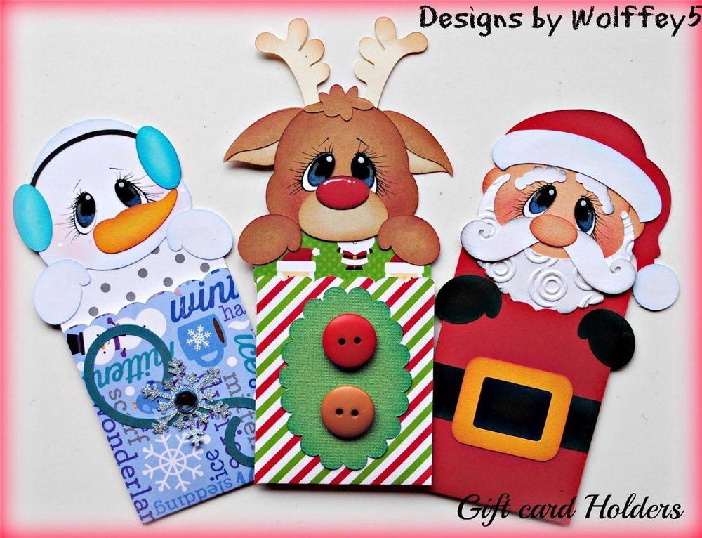 Elite4u xmas gift card paper piecing premade scrapbook - Decoracion navidad goma eva ...