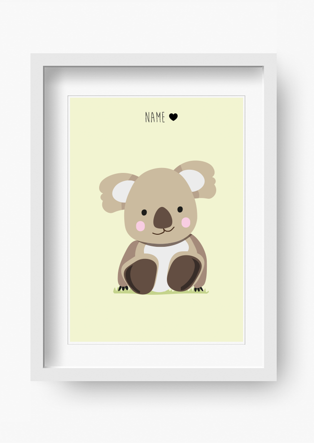 bild mit s em koala f rs kinderzimmer poster with cute koala bear for your child 39 s room made. Black Bedroom Furniture Sets. Home Design Ideas