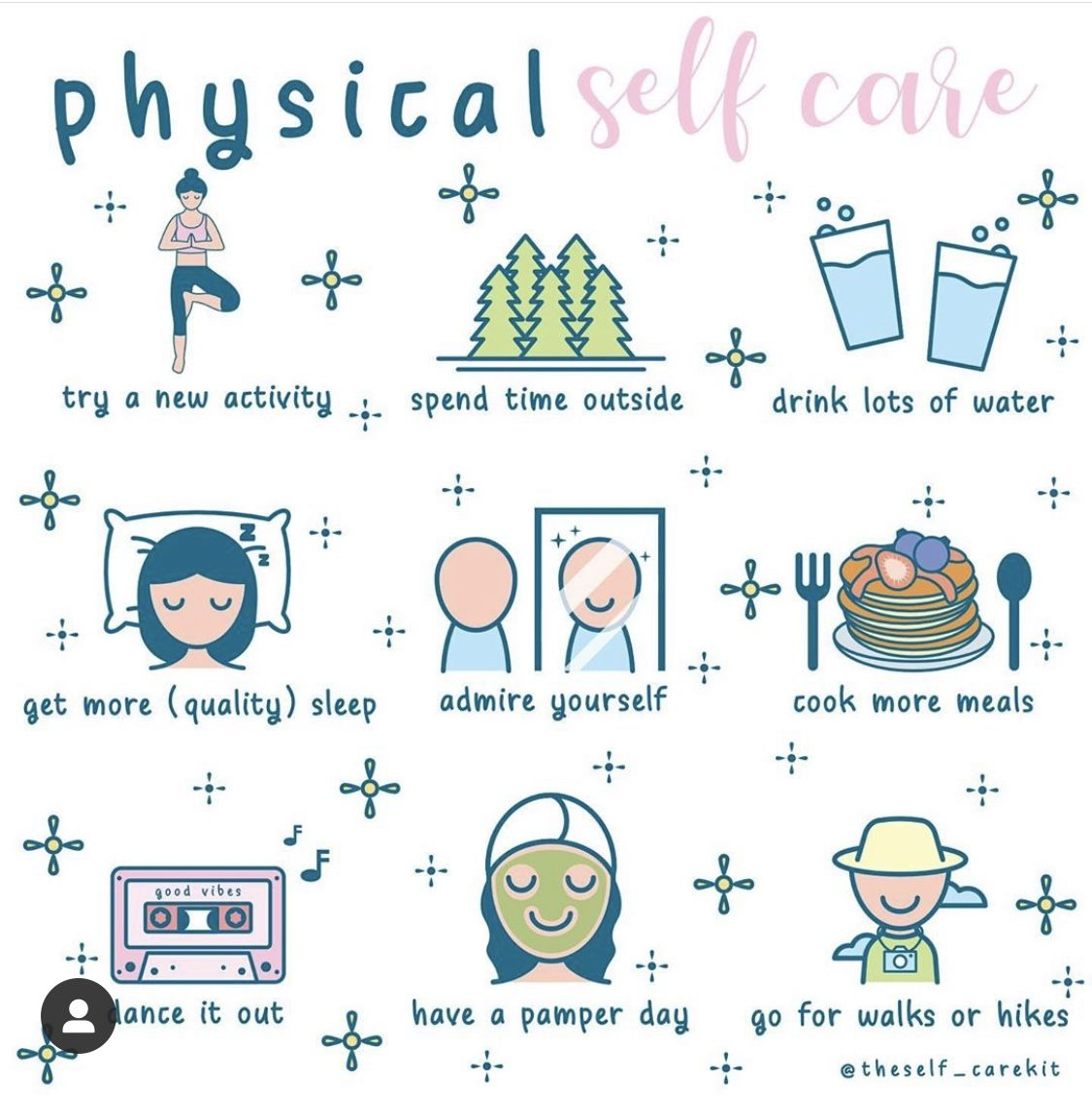 We love these physical self care ideas! Which one will you