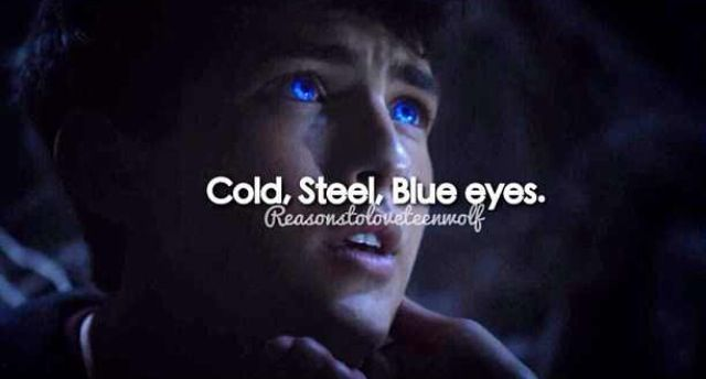 Cold, steel, blue eyes