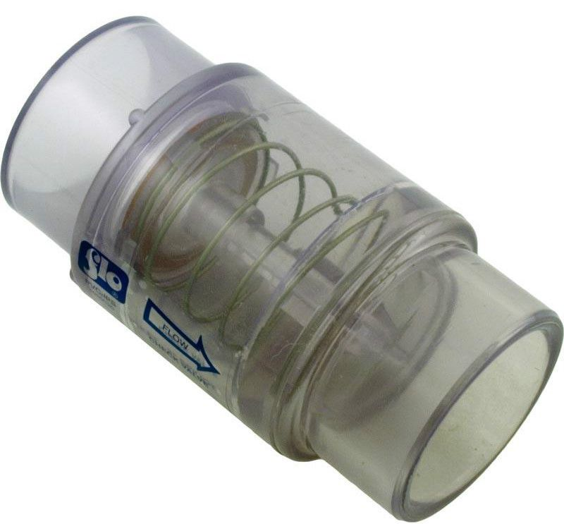 Spa Hot Tub Air Blower Clear Check Valve 1 4 Lb Spring Fits 1 5 2 Pvc Plumbing Spa Hot Tubs Valve Spa Pool