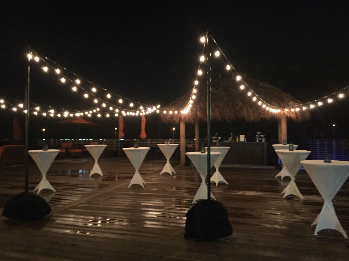 Hilton Cocoa Beach Pool deck cocktail reception. Cocoa