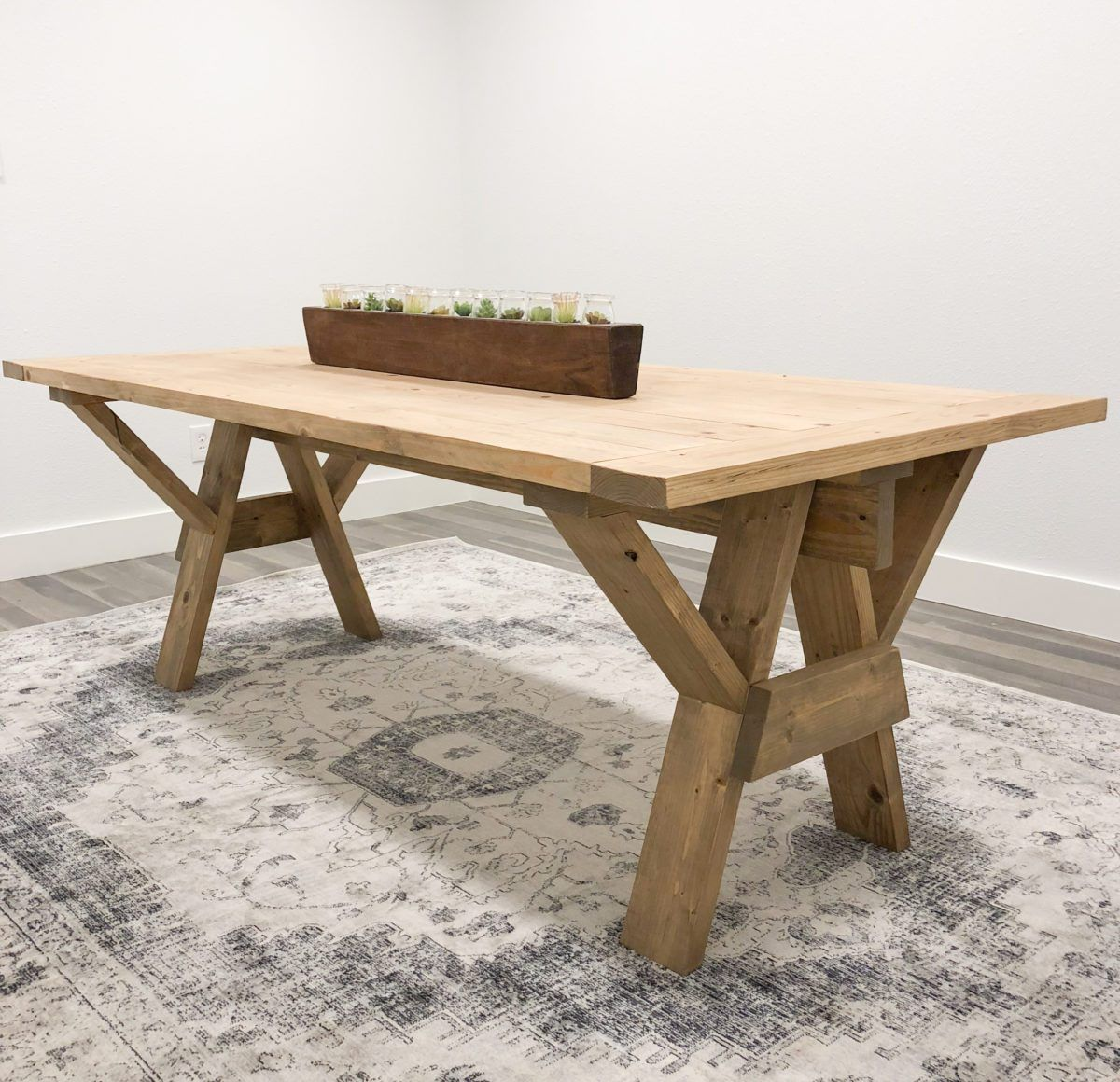 diy pedestal table base plans