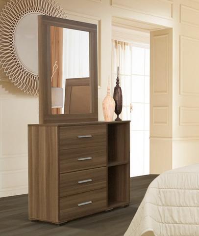 Comoda armenia color nogal minimalista mueblerias muebles - Comodas para habitacion ...