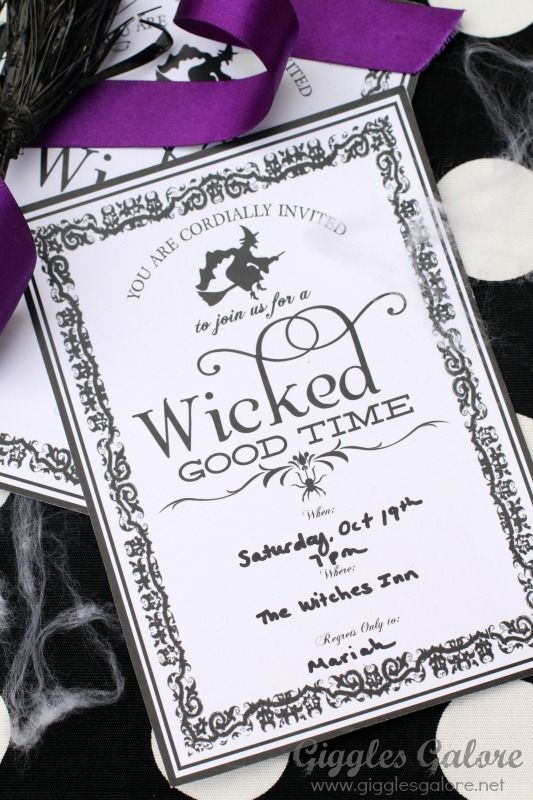 Witches Party Invitations and Free Download Fabulous Halloween - birthday invitations free download